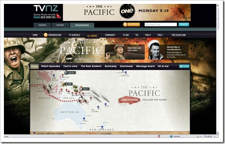 TVNZ_ThePacific_website